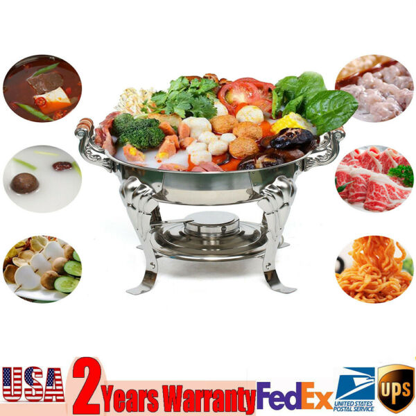 Classic 30cm Stainless Round Chafer Chafing Dish Catering Buffet THANKSGIVING
