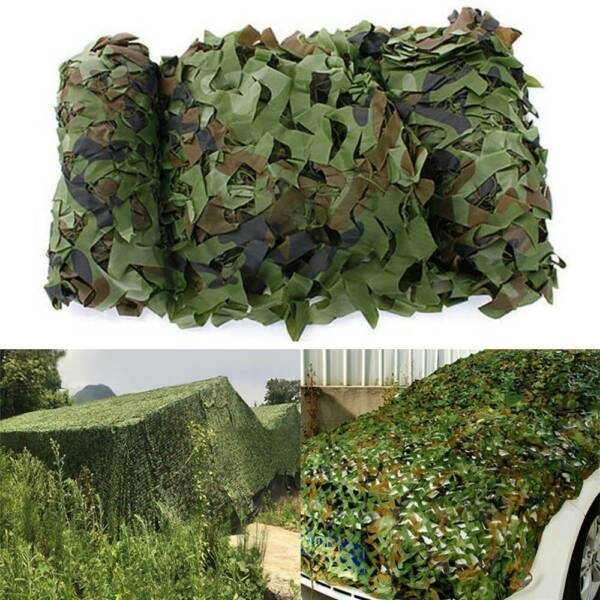 Camouflage Army Net Military Camo Netting Hunting Camping Hide Woodland Game Net