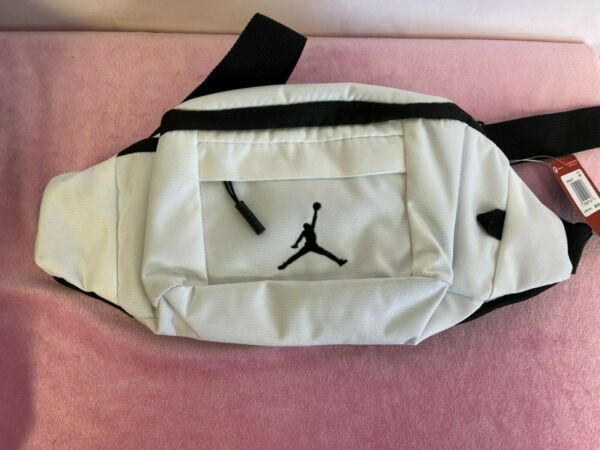 Nike Air Jordan Jumpman 9A0092 023 White Waist Fanny Pack Crossbody Bag One Size