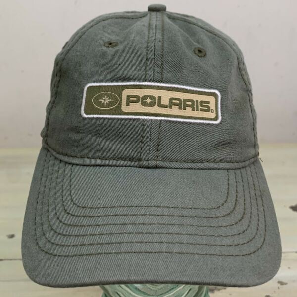 POLARIS Sun Faded Green Olive Drab Strapback Low Profile Hat Cap MUST SEE $19.99