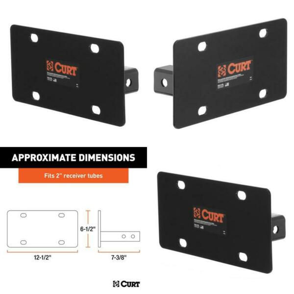 Hitch Mounted License Plate Holder Fits 2quot; Receiver $60.56