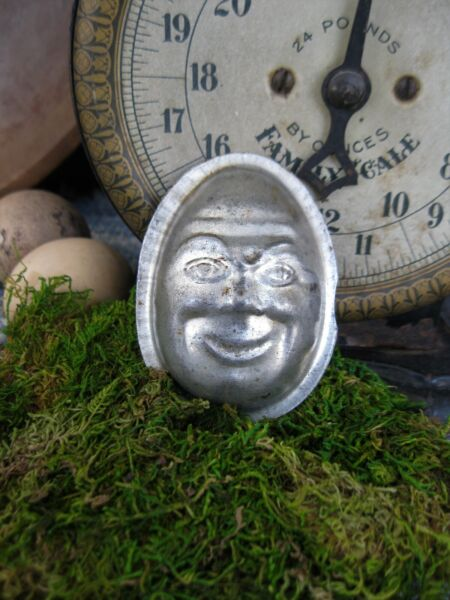 Small Antique One Piece Chocolate Mold Humpty Dumpty