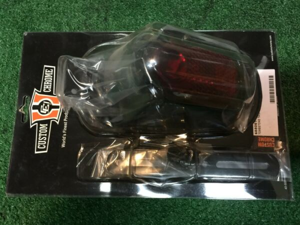 NOS Aftermarket Harley Davidson Tombstone Taillight Tail Light Black Replica HD $54.95