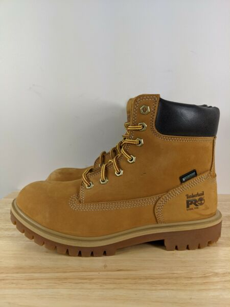 Timberland Pro Womens Direct Attach 6quot; Steel Toe Waterproof Work Boot Wheat Sz 8 $64.99
