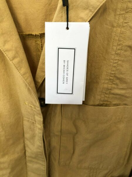 NEW Shades of Grey by Micah Cohen Boiler Suit Mustard XXS New with tags $65.00