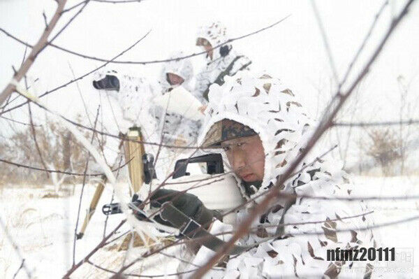 3D Snow Single Hunting Bionic Training Camo Net Ghillie Suit Clothing