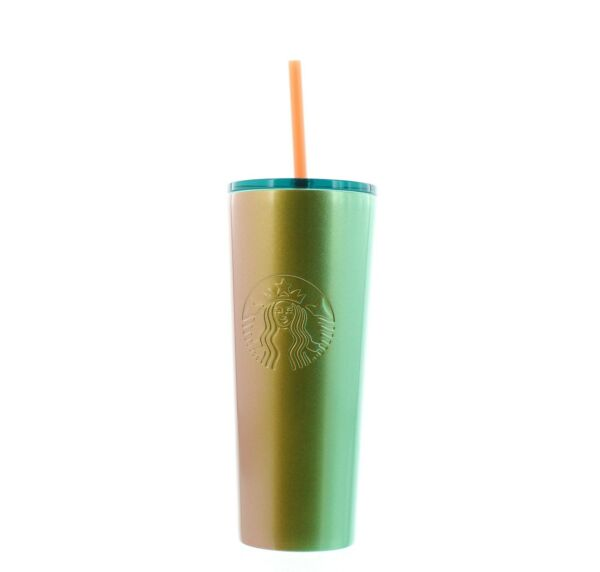 Starbucks Tumbler Drink Cold Cup Ombre Stainless Steel Summer 2020 16 oz