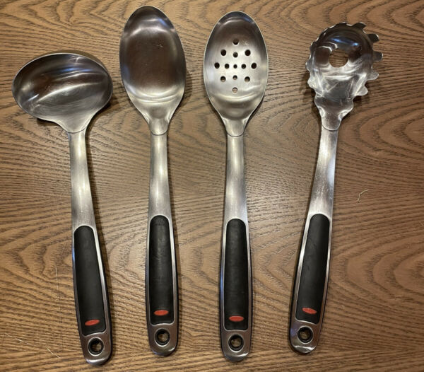 OXO Set Of 4 Stainless Cooking Utensils Spoons