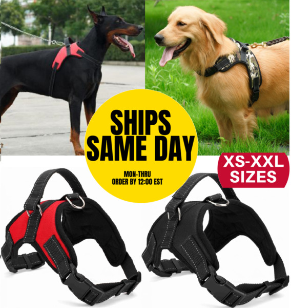 No Pull Dog Pet Harness Adjustable Control Vest Dogs Reflective XS S M Large XXL $11.35