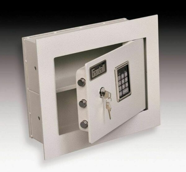 Gardall WS1314 T EK Wall Safe with 1 inch Flange and Dual Elec Key Lock $246.00