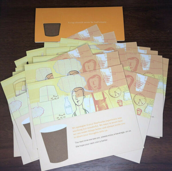 20 X Starbucks Coffee Gift Cards Recovery Certificate Drink CouponFree Ship
