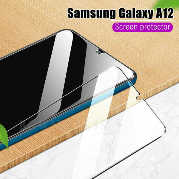 For Samsung Galaxy A12 5G Tempered Glass Clear Case Friendly Screen Protector