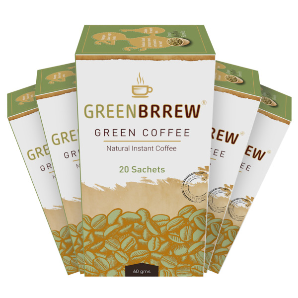 Greenbrrew Natural Green Coffee Beans Extract Pack of 520 Sachets 5B2