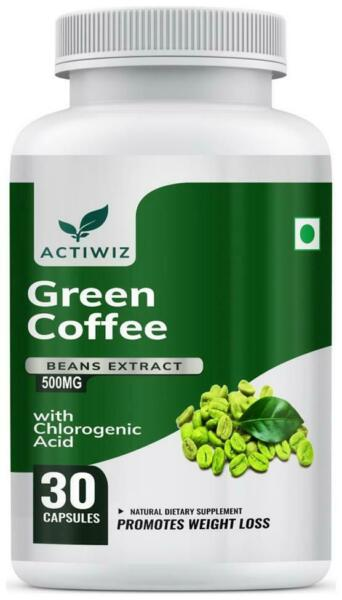 Actiwiz Green Coffee Beans Extract 50% CGA for Weight Loss 30 VOu
