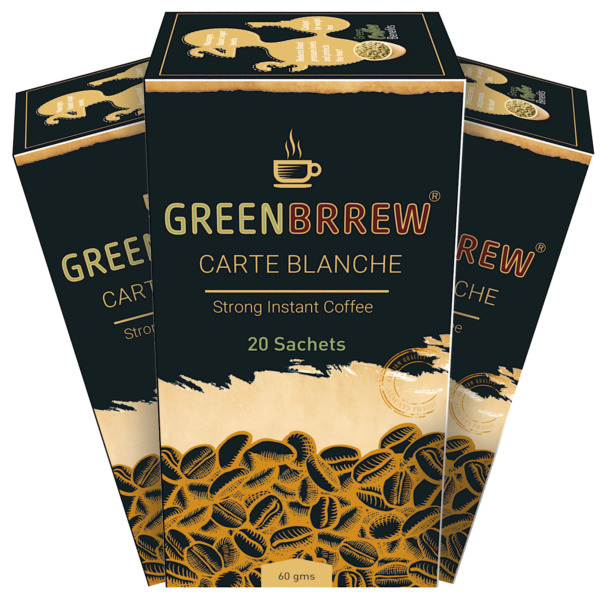 GreenBrrew Green Coffee Beans Extract Instant Coffee 3 x 60 g lUZ