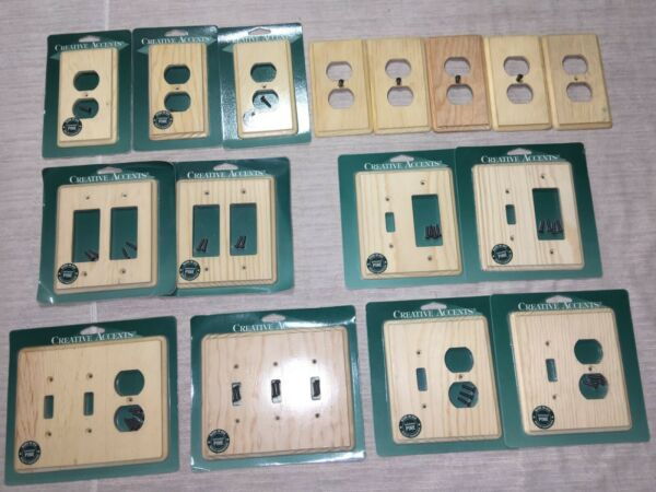 16 Creative Accent Unfinished Pine Wood Switch Toggle Rocker Outlet Wall Plates $99.99