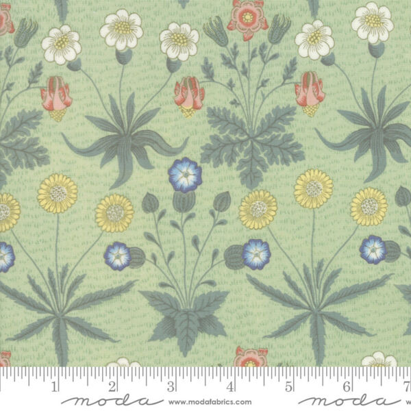 Best of Morris Spring Sage 33493 14 by V amp; A Company for Moda Fabric half yard