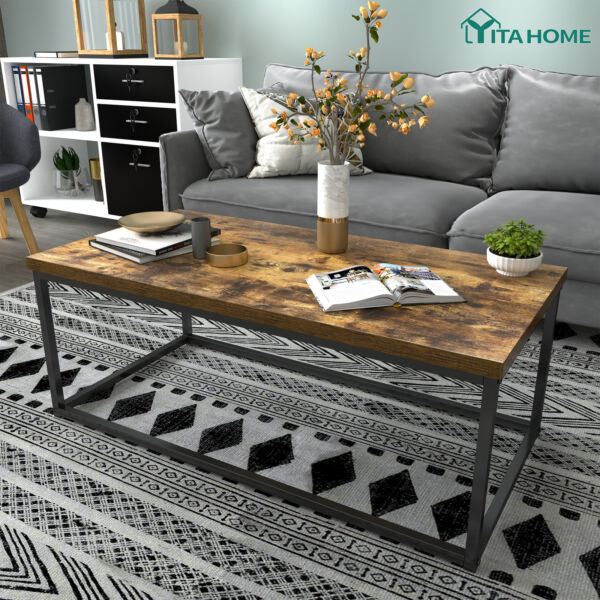 YITAHOME Coffee Table Storage Shelves Modern Furniture Tea Side Living Room Wood $89.99