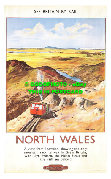 R541741 North Wales. A view from Snowdon. showing the only mountain rack Railway GBP 7.99