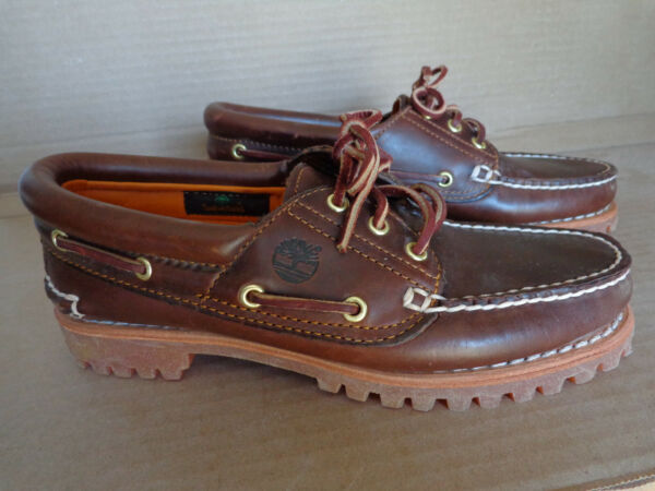 Timberland Women#x27;s Heritage Noreen 51304 Brown Leather Boat Shoes 7.5M Brand New $45.00