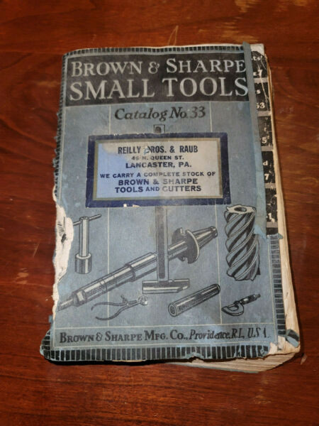 Brown amp; Sharpe Small Tools Catalog No 33 Tools Cutters 1938