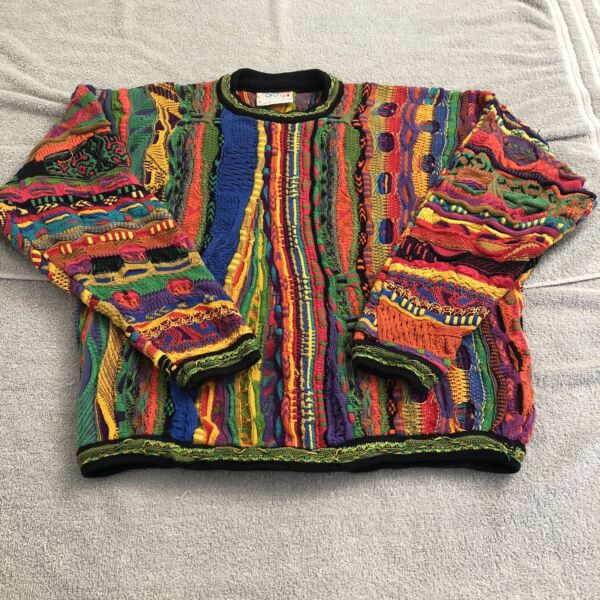 Vtg Coogi Sweater Made In Australia Multicolor Rainbow Size Small Best For Women $199.99