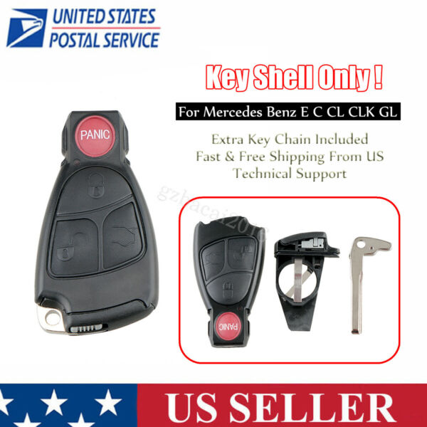 Replacement for 2000 2006 Mercedes Benz Remote Key Fob Shell Case Blade IYZ 3312
