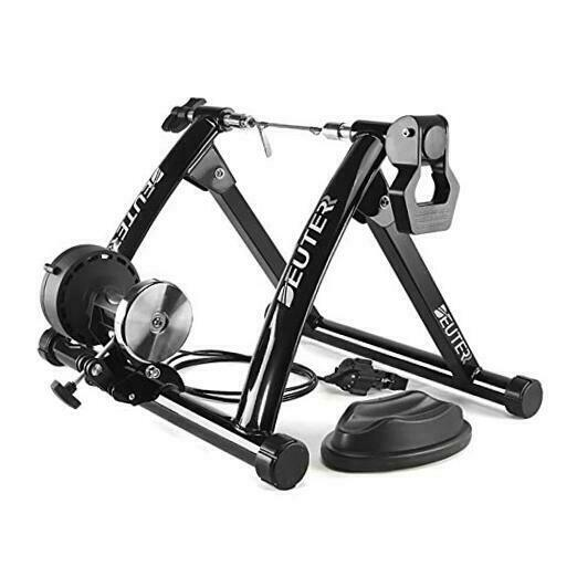 Bike Trainer Magnetic Bicycle Stationary Stand for Indoor Exercise A: BLACK $141.74