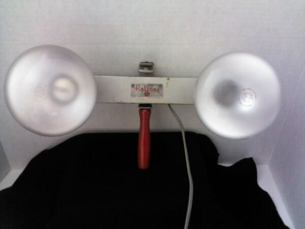 Vintage Holiday 2 Light Movie Camera Bar Mansfield Industries Inc. Tested A