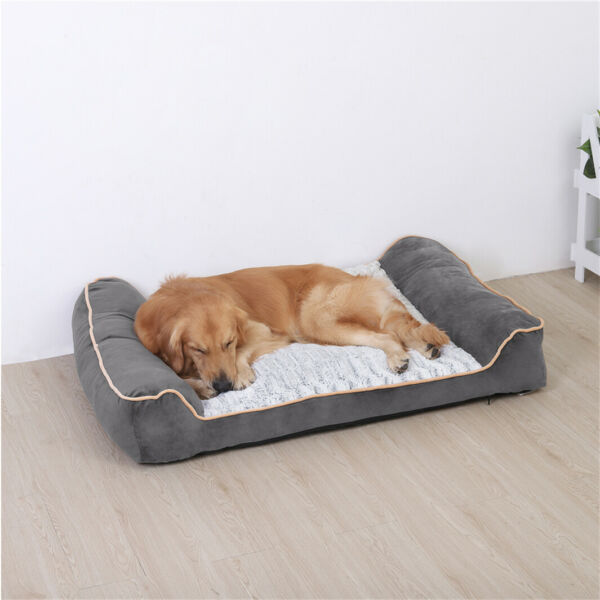 Waterproof Dog Bed for XXL XL Large Dog Removable Washable Cover 2 Bolstered End $69.93