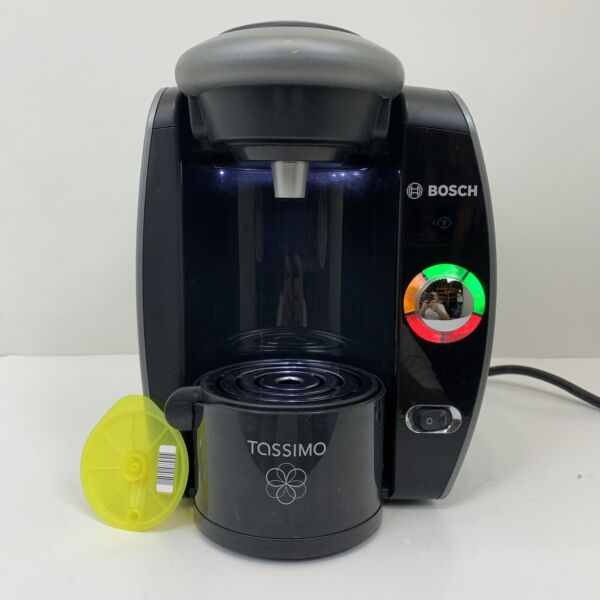 Bosch Tassimo T65 Coffee Maker Black Gray TAS6515UC Descaled Cleaned Tested 5c