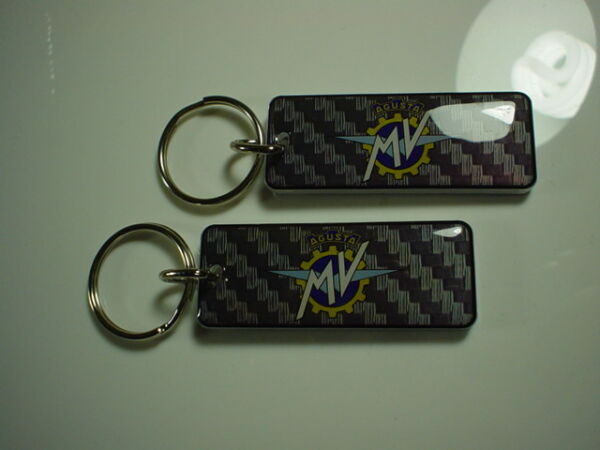 MV Agusta Motorcycle Key Chain pack of 2 Carbon Pattern $18.99