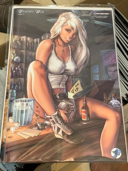 Widow#x27;s Web #2 Cover E Mike Debalfo quot;Happy Hourquot; ltd 500