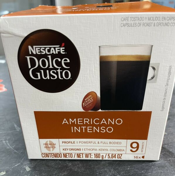48 Ct NESCAFÉ DOLCE GUSTO Americano Intenso Coffee Pods BB 04 2021
