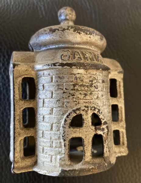 Antique Old Cast Iron Small Domed Castle Tower Bank