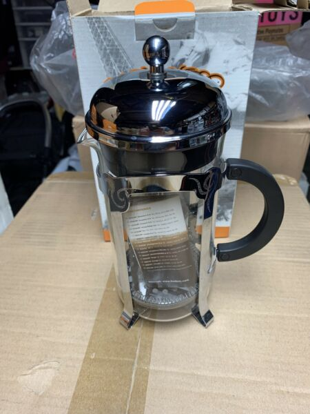 Starbucks Barista 8 Cup FRENCH PRESS Glass and Stainless Steel NIB COFFEE