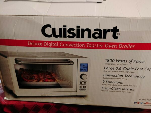 Cuisinart Deluxe Digital Convection Toaster Oven Broiler TOB 135WN