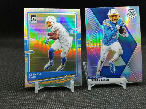 2020 Keenan Allen 2 Card Lot Mosaic Silver amp; Silver Holo Optic Chargers $3.49