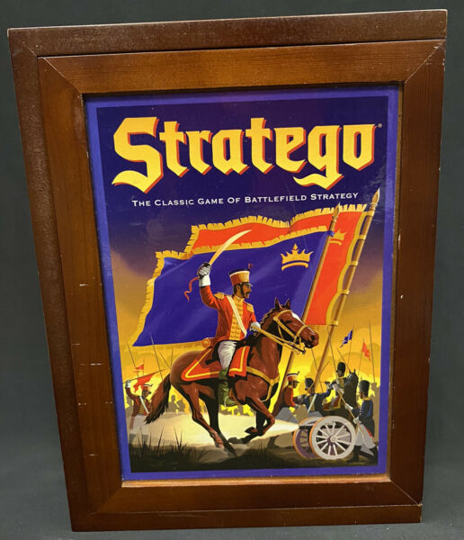 Stratego Vintage Strategy Game of Battlefield in Wooden Box
