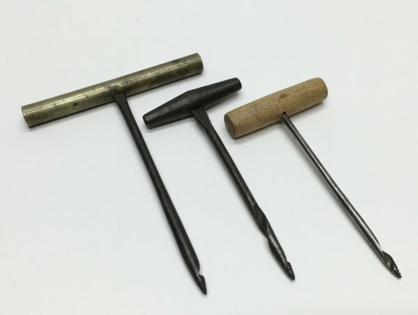 Vintage Antique Lot of 3 Misc Woodworkers Gimlets Hand Drills Tools
