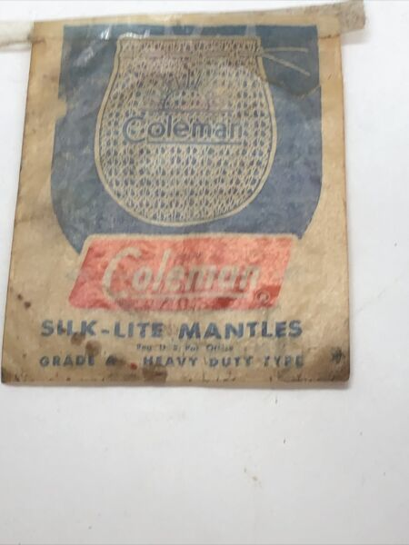 2 Pack Coleman Silk Lite Mantles 21A Tie On Old Lantern Lamp Empty $3.00