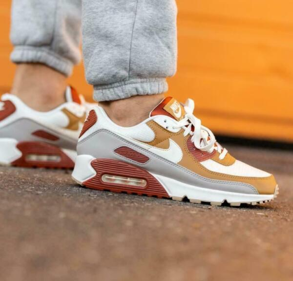 Nike Air Max 90 Shoes Rugged Orange Sail Wheat CV8839 800 Men#x27;s Multi Sizes NEW