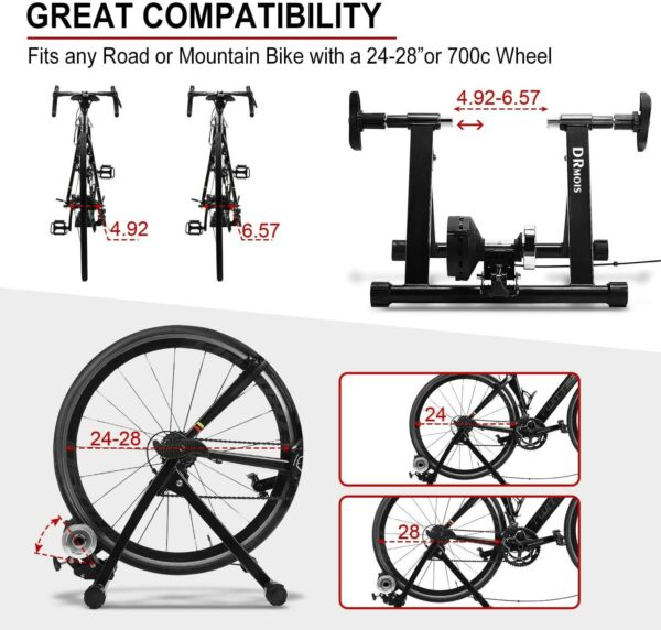 DRMOIS Bike Trainer Stand – Portable Stainless Steel Indoor Exercise Bicycle Tra $79.99