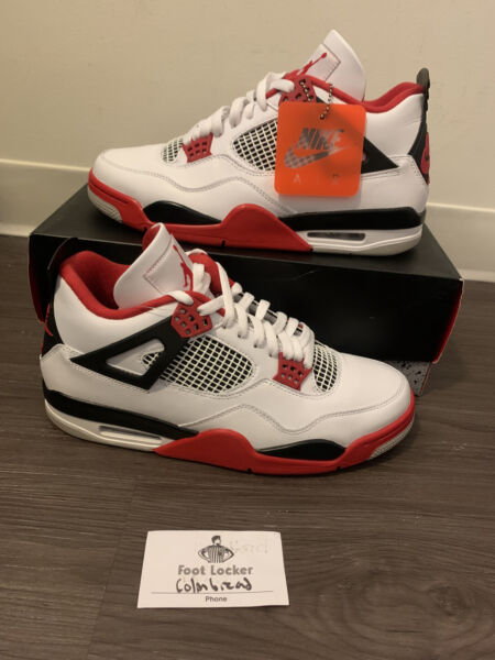 Air Jordan Retro 4 Fire Red DC7770 160 size 11 IN HAND FREE SHIPPING