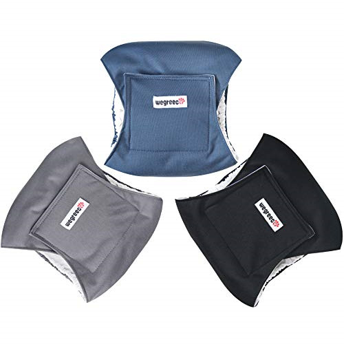 wegreeco Washable Male Dog Diapers Pack of 3 Washable Male Dog Belly Wrap $12.92