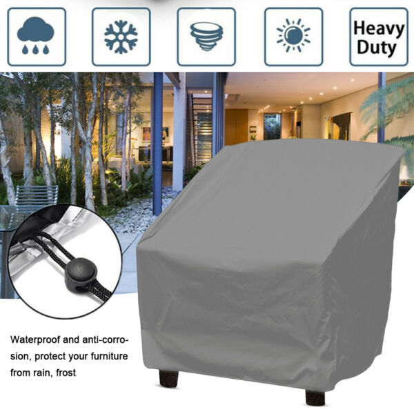 Waterproof Dustproof Patio Furniture Covers Garden Chair Sofa Rain Cover Outdoor
