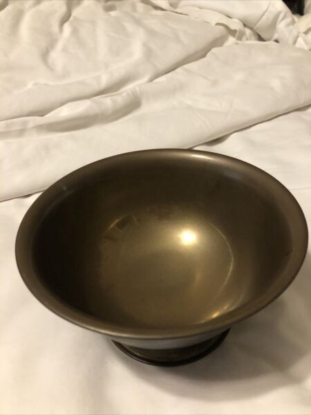 Antique Small Brass Bowl 7 inches