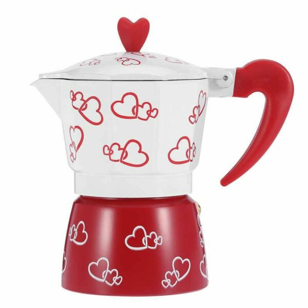 Coffee Kettle Italian Espresso Coffee Stovetop Aluminum Pot For Home And Office