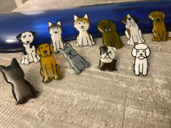 Plastic Pin badges handmade gifts Unique Dogs Cute French Poodle Bulldog Shiba GBP 1.80