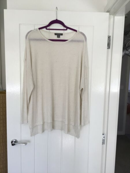 Ladies Long Top In Oatmeal By Primark Size Xl